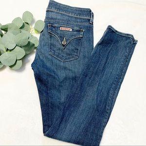 Hudson flap pocket skinny jeans 28